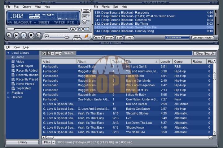 برنامج Winamp الجديد