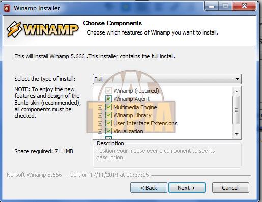 تثبيت Winamp
